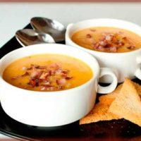 Суп-пюре с беконом по-итальянски