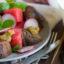 Салат с арбузами и особым соусом