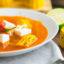 Лёгкий суп с кукурузой и красным перцем