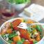 Салат с персиками гриль и голубым сыром