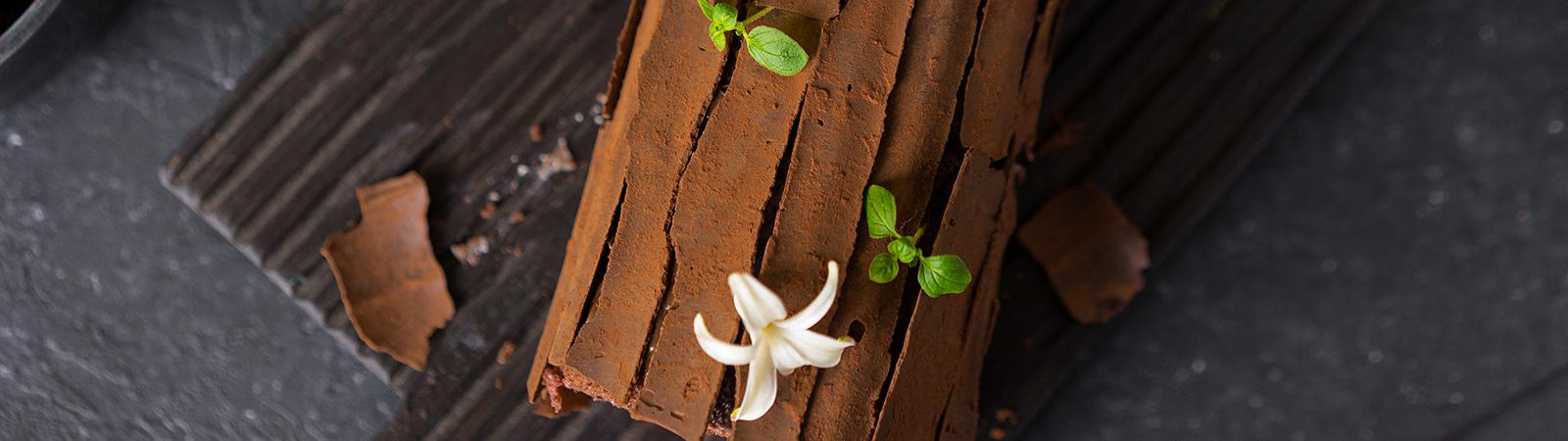 """Торт полено """"Чёрный лес"""" на новый лад"""