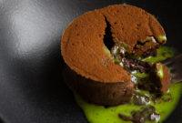 Шоколадный фондан, которого давно ждали, с базиликом!