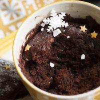 Шоколадный кекс в кружке — всего минута и готово!