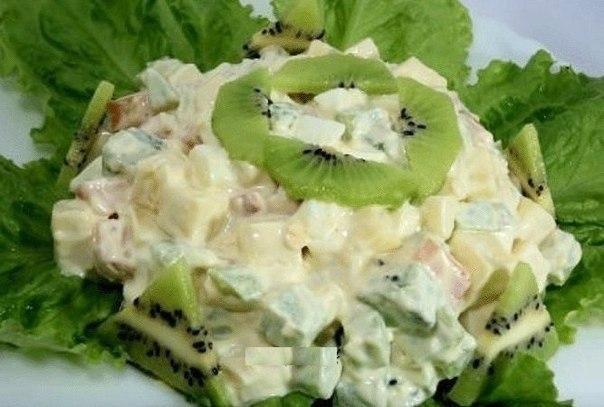 Новогодний салатик «Экзотика»