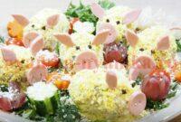 Салат «Свинки»