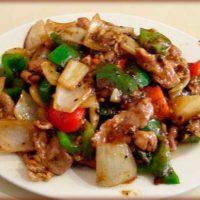 Свинина по-китайски со сладким перцем
