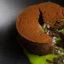 Шоколадный фондан с базиликом!