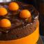 Шоколадный торт с абрикосами и нежным муссом