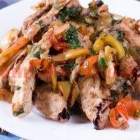 Куриное филе с болгарским перцем