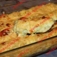 Пельмени запеченные с сыром